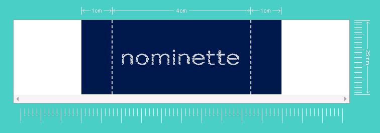 Type d'étiquette: simulation d'étiquette avec logo