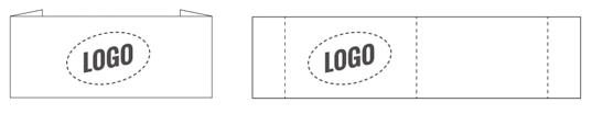 Étiquette avec logo Nominette